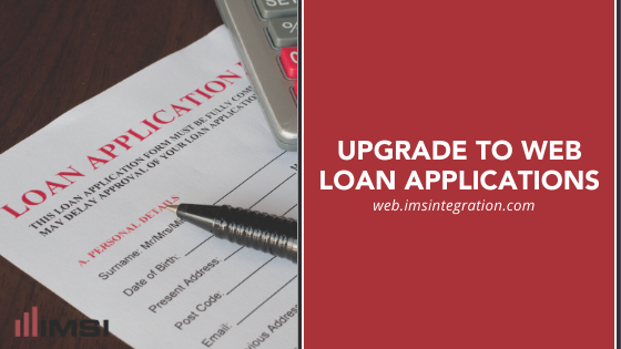 Paper loan application form with title Upgrade to Web Loan Applications